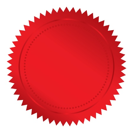 seal of approval:  illustration of red seal
