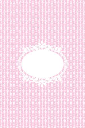 pink wall paper: vintage blue background