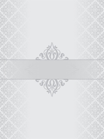 fancy border: Silver luxury background Illustration