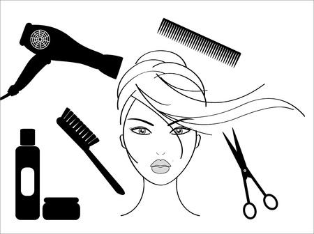 peluqueria: sal�n de peluquer�a Vectores