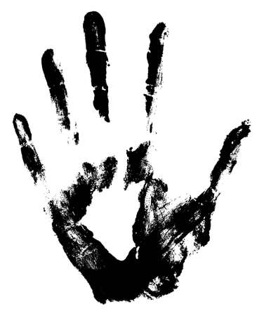 imprisonment: Hand Print Illustration