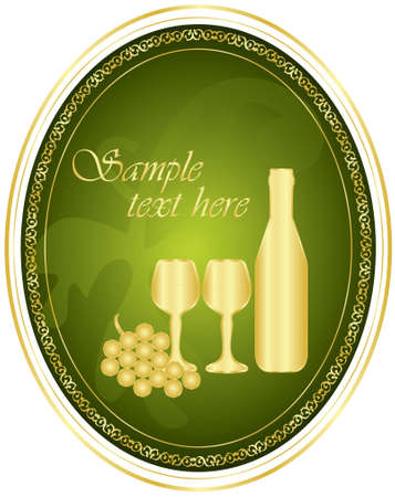 wine label Stock Vector - 12670635