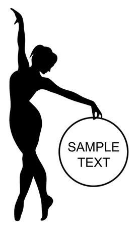 flexible woman: sonriendo gimnasta Vectores