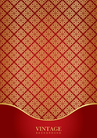 Red   gold luxury background Vector