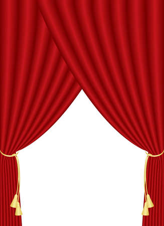 illustration of red curtain   Stock Vector - 12670500