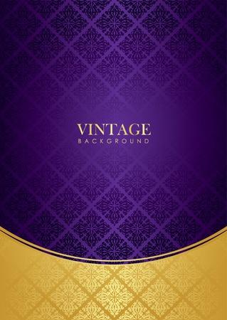 purple gold background   Ilustração