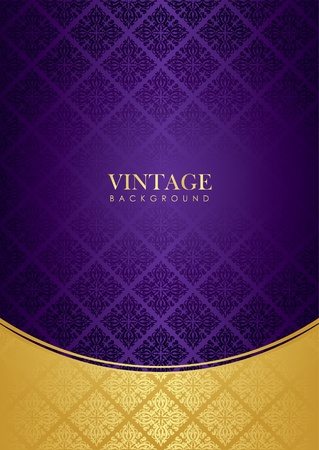 purple gold background   Vector
