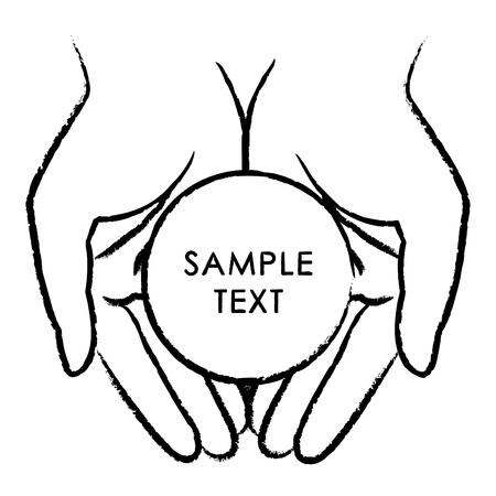 manos juntas: ilustraci�n de manos