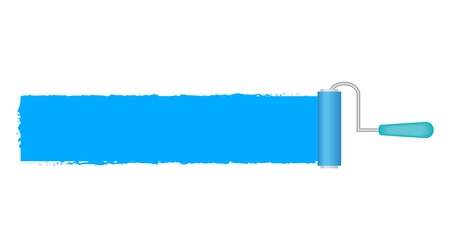 flat brush: illustration of paint roller