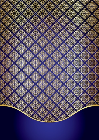 Blue   gold background Vector