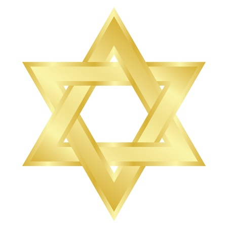 jewish ethnicity:  illustration of star of David  Magen David    Illustration