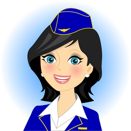 illustration of air stewardess   Vector