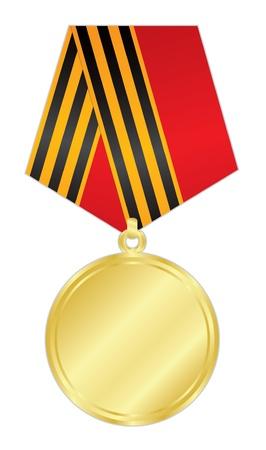 illustratie van de gouden medaille