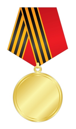 achievement clip art: illustration of gold medal