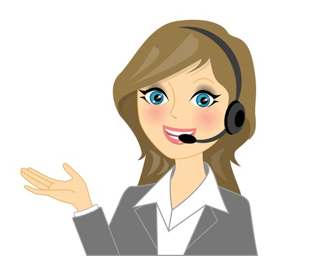 service occupation: Vector telephone operator Illustration