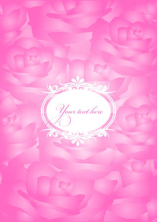 vintage pink background   Stock Vector - 12670599