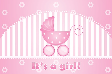 it s a girl:   it s a girl  pink background