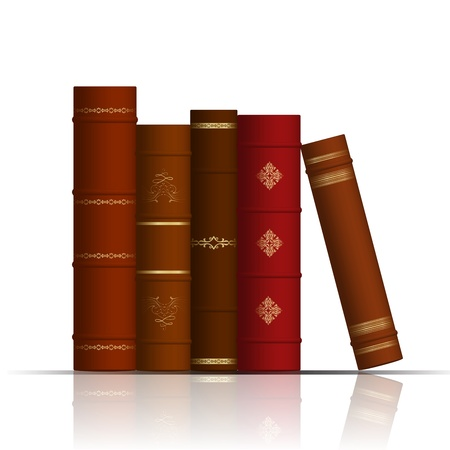 illustration of old books Vector