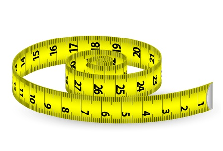 cintas metricas: ilustración de una cinta de medir