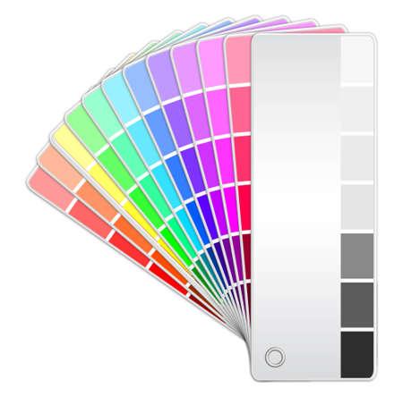 descriptive colours: illustration of color fan Illustration