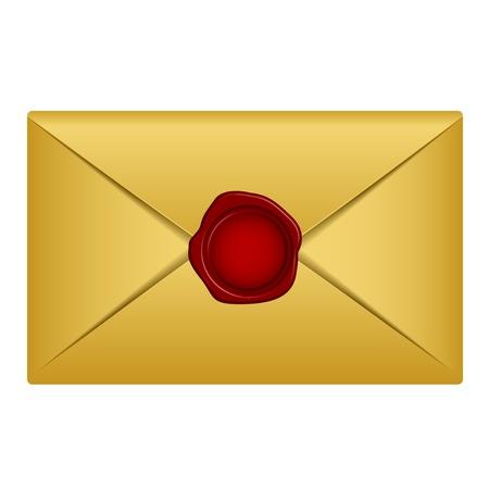 icona busta: oro lettera