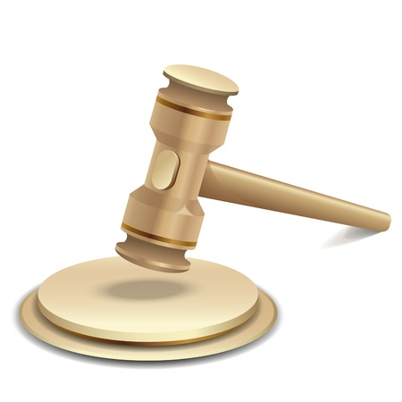 lawyer in court: illustration of gavel