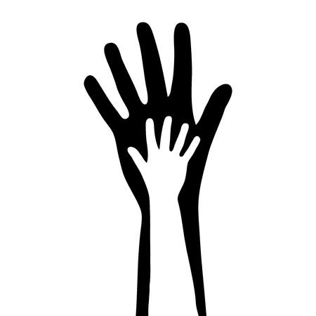 small   big hands Vector