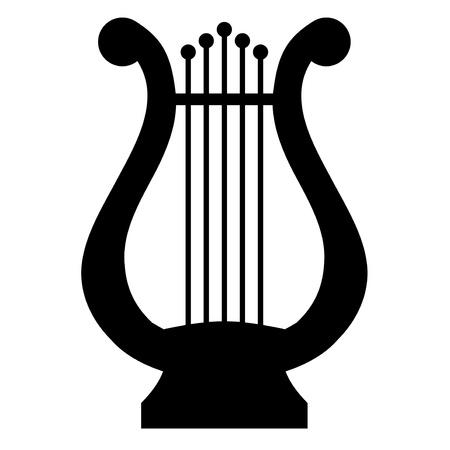 illustration of lyre Vector