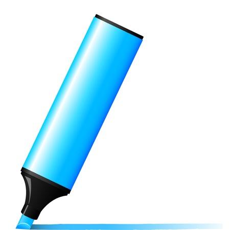 indirect: illustration of blue marker Illustration