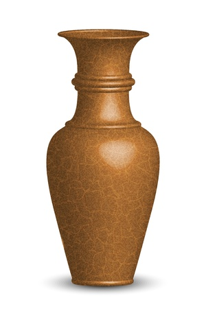 earthenware: illustration of old vase