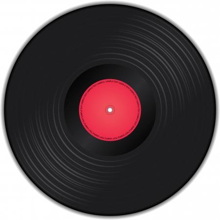 vinyl records: illustration of vinyl record