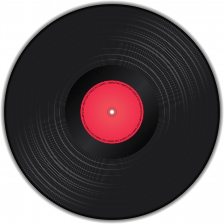 illustration of vinyl record