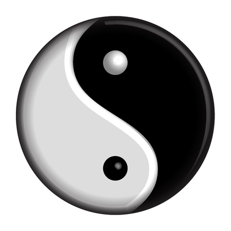 spot the difference: Yin Yang isolated symbol Illustration