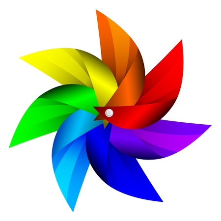 wind wheel: illustration of Windmill toy