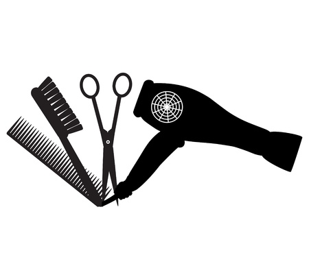 cold cuts: barber logo Illustration