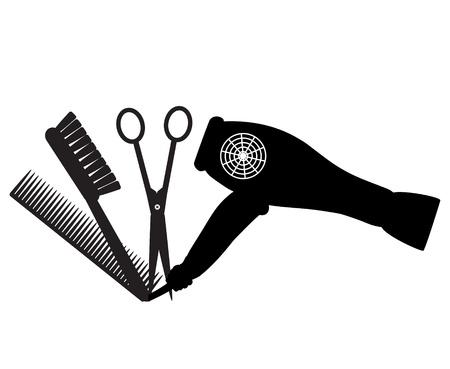 salumi affettati: barbiere logo Vettoriali