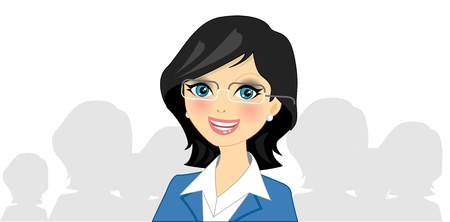 business rival: illustration of businesswoman   Illustration