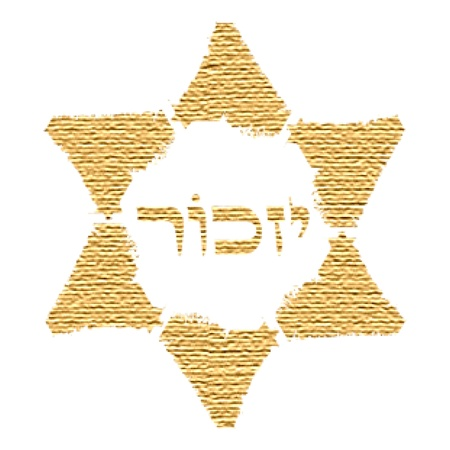Holocaust symbol  Bereavement in Judaism  Vector
