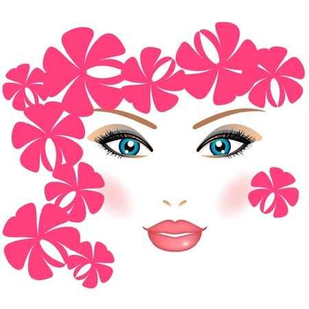 kosmetik: M�dchen mit Blumen