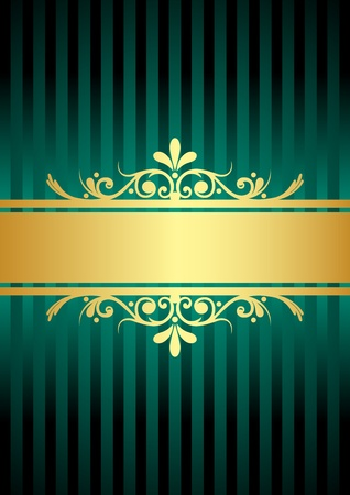gold turquoise background Vector