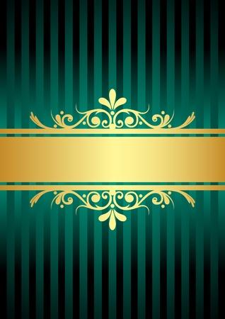 gold turquoise background Illustration