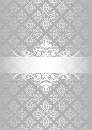 silver christmas: Silver vintage background