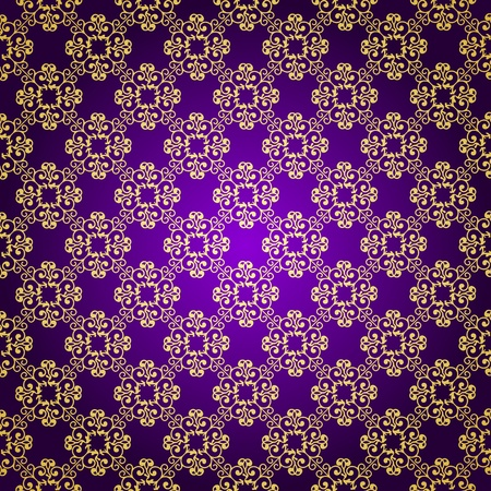 Purple   gold background Stock Vector - 12671914