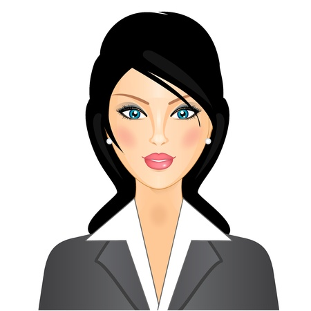 personalities: businesswoman Illustration