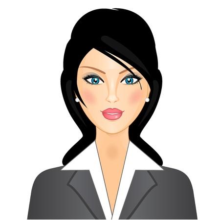 employ� heureux: femme d'affaires