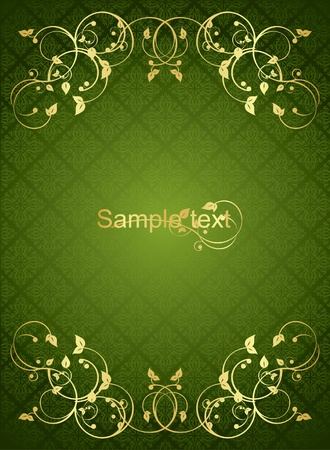 Luxury green background Vector