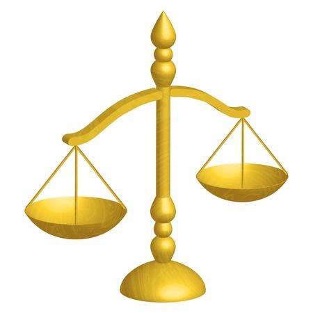 integridad: ilustración de las escalas de la justicia
