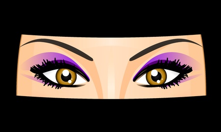 fille arabe: illustration de la femme arabe