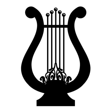 harfe: Illustration der Leier