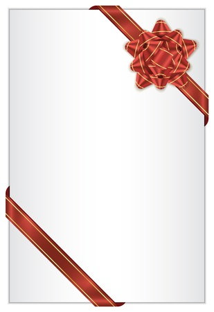 wrappings: white background with red bow